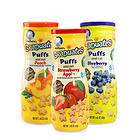 美國 GERBER 嘉寶 星星泡芙 寶寶輔食 嬰兒泡芙 寶寶零食 蘋果&草莓、水蜜桃、藍莓口味三瓶組合裝