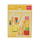 日本 WAKODO 和光堂 婴儿高钙芝士条饼干磨牙棒 7个月宝宝辅食 补充钙铁 两盒装