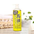 日本 LOSHI 馬油身體乳 天然保濕潤膚乳液 全身潤膚露485ml