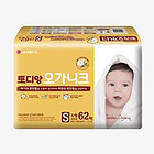 韩国 LG生活健康 淘淘安(Toddien)有机棉纸尿裤小型186片装(62片/袋*3袋)