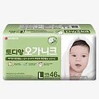 韩国 LG生活健康 淘淘安(Toddien)有机棉纸尿裤大型138片装(46片/袋*3袋)