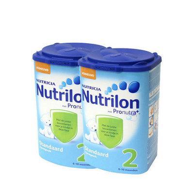 荷兰原装进口Nutrilon牛栏婴儿奶粉2段 800g/罐 6~10个月2罐装