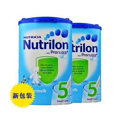 荷兰原装进口Nutrilon牛栏婴儿奶粉 5段800g/罐 2罐装