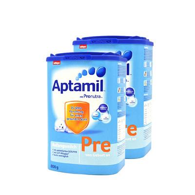 德国新版Aptamil爱他美 婴儿奶粉Pre段800g/罐 0-3个月 德爱2罐装