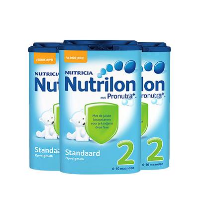 荷兰原装进口Nutrilon牛栏婴儿奶粉2段 800g/罐 6~10个月3罐装