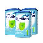 荷兰牛栏Nutrilon本土婴儿奶粉1段 850g/罐  3罐装