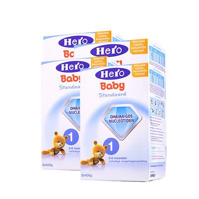 4盒装 荷兰美素Friso/Herobaby婴儿奶粉1段 800g/盒 0-6个月