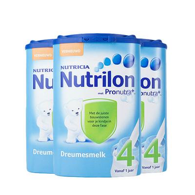 荷兰原装进口Nutrilon牛栏婴儿奶粉4段 800g/罐 3罐装