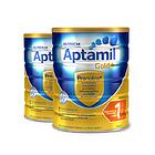 2罐装 澳洲爱他美金装 爱他美Aptamil 金装婴儿配方奶粉1段 900g/罐   0-6个月