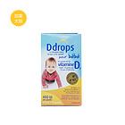 加拿大Ddrops  婴儿维生素D3滴剂  0岁以上每天一滴 宝宝补钙 400IU 90滴 2.5ml/瓶