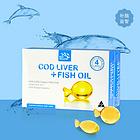 Bio-Island Cod Liver + Fish Oil嬰幼兒鱈魚油 大腦聰明 眼睛明亮 健康成長 30粒/盒
