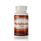 美国GNC健安喜 美乐通宁褪黑素脑白金片3mg 改善睡眠 调节血压 降低胆固醇 120片/瓶