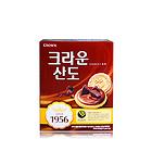韩国crown/可拉奥山都巧克力夹心饼干 巧克力口味饼干零食 161g/盒