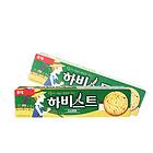 韩国Lotte 乐天庄园饼干 高纤粗粮芝麻饼干 绿色装五谷口味/红色装原味  两种口味任选 办公休闲必备零食 88g/盒