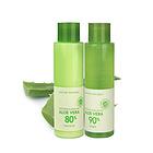 韩国Nature Republic自然乐园90%芦荟水乳套装 舒缓保湿 收缩毛孔护肤套装