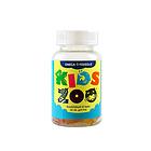 丹麦Kids Zoo儿童动物乐园软糖系列鱼油咀嚼软糖 混合水果味 60粒/瓶