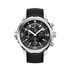 瑞士万国海洋时计系列IW376803男表 黑色表盘橡胶表带自动机械男士腕表