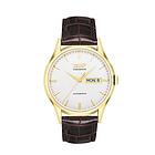 瑞士天梭Tissot 唯思达系列T019.430.36.031.01腕表 男士白盘镀金机械手表