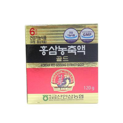 韓國參之元紅參濃縮液GOLD 抑制血小板凝聚促進血液循環 120g/瓶