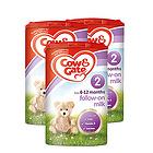 英国牛栏cow&gate 2段婴幼儿奶粉 6-12月 900g/罐英牛3罐装