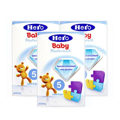 3盒装 荷兰美素Friso/Herobaby婴儿奶粉5段700g/盒 2周岁以上