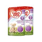 英国牛栏cow&gate 2段婴幼儿奶粉 6-12月 900g/罐英牛2罐装