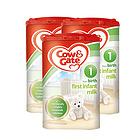 英国牛栏cow&gate 1段新生儿奶粉900g/罐 0-6个月英牛3罐装