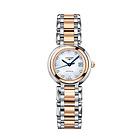 瑞士浪琴longines心月系列 钻石刻度间金机械女表 精钢白盘女士时尚手表 奢华腕表L8.111.5.87.6