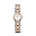 瑞士浪琴longines-心月系列精钢间金机械女表 金色大三针 条形整点刻度女士腕表手表 L8.111.5.16.6