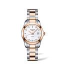 浪琴康铂系列女士腕表L2.285.5.87.7 珍珠母贝表盘钻石刻度玫瑰金机械女表