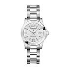 瑞士浪琴Longines康卡斯系列  银色机械女表 日期显示女士腕表L3.276.4.76.6