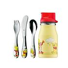 德国福腾宝WMF维尼熊儿童餐具4件套 不锈钢刀、叉、勺、水杯