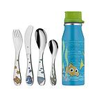德国福腾宝WMF海底总动员儿童餐具5件套 Nemo餐具套装 不锈钢刀叉勺调羹+水杯