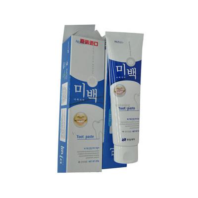 韩国原装进口Niche丽齿乐美白多效牙膏120g/支 美白牙膏 薄荷香型牙膏