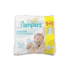 德国Pampers帮宝适植物清香型湿纸巾 敏感肌肤5+1系列 预防红屁屁 6x56片