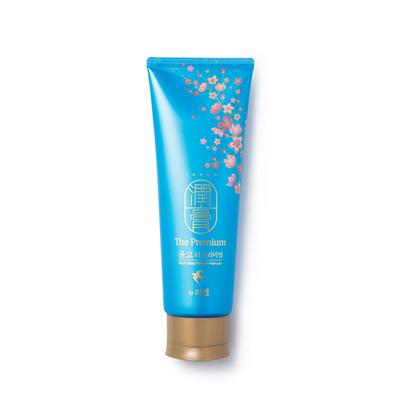新款藍色潤膏 韓國LG ReEn/睿嫣 藍色金絲燕窩無硅油洗發水  洗護二合一洗發水護發素250ml/支