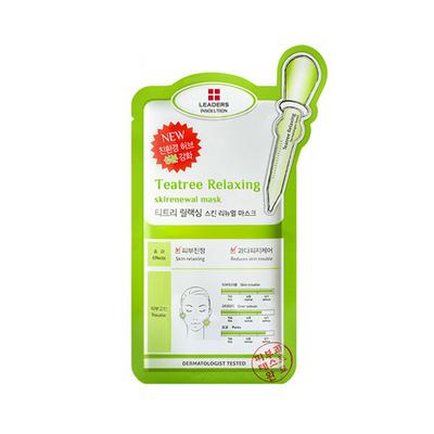 丽得姿Leaders领先润美系列绿色装茶树控油面膜 茶树控油净肤面膜5片/10片