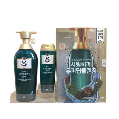 新款 韩国直邮 爱茉莉Amore红吕/绿吕/棕吕洗发水套装 450g+180g 一套装/两套装 企业版