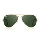 雷朋Ray-Ban金色镜架墨绿镜片太阳镜3026:L2846中性墨镜眼镜62MM 飞行员系列耐摩擦抗撞击