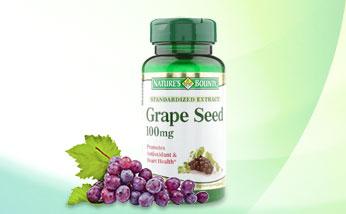 美国自然之宝Nature's Bounty 自然之宝 葡萄籽提取物胶囊  美白抗衰老 口服化妆品 30粒/瓶