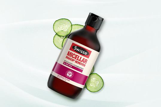 澳大利亚SWISSE小黄瓜卸妆水免洗型卸妆液300ml 清洁卸妆清爽柔嫩