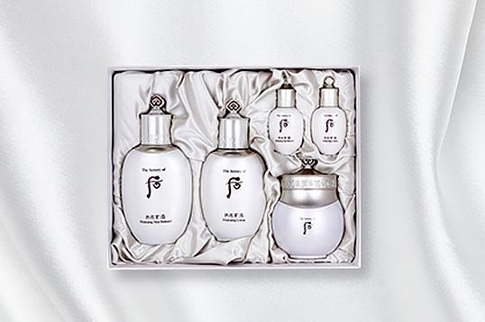韩国直邮 WHOO后拱辰享雪美白 水乳水分膏三件套 赠水乳中样 护肤套盒礼盒 免税版