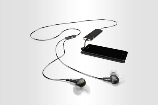 美国Bose安卓版黑色耳塞式耳机QuietComfort20 双重消噪 感知模式设计