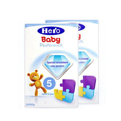 2盒装 荷兰美素Friso/Herobaby婴儿奶粉5段700g/盒 2周岁以上