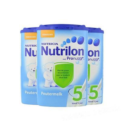 荷兰原装进口Nutrilon牛栏婴儿奶粉5段800g/罐 3罐装