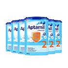 6罐装德国原装进口 美乐宝 Aptamil爱他美奶粉 2段 6-10个月 800g/罐