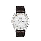 天梭Tissot唯思达系列圆形白色皮带机械男表T019.430.16.031.01  瑞士Tissot男士腕表