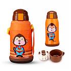日本KUMAMOT熊本士儿童保温杯 保温保冷两用水杯600ml 304不锈钢内胆 带杯套 4款任选