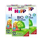 3盒裝喜寶Hipp有機奶粉12+段 12個月以上寶寶奶粉 營養均衡全面口感清淡
