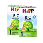 2盒装喜宝Hipp有机奶粉1段600g 3-6个月宝宝奶粉 有机奶源口感清淡